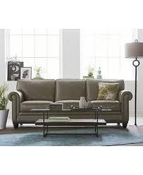 Martha Stewart Collection Bradyn Leather Sofa Collection Created