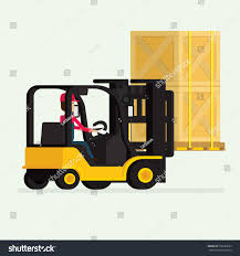 100 Truck Courier Forklift Human Worker Boxes Stock Vector Royalty Free