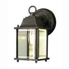 bel air lighting 1 light rust outdoor wall mount coach lantern