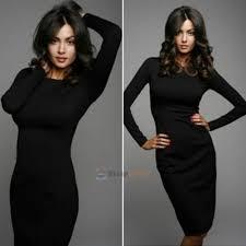 women u0027s long sleeve dress hip stretch bodycon slim fit midi