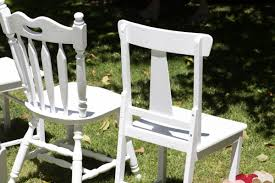 Cute White Garden Wedding Chairs
