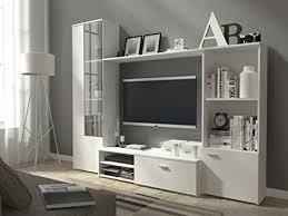 wohnwand hugo anbuawand vitrine regal lowboard wandschrank mit 2 türen und 1 klapptür weiß matt
