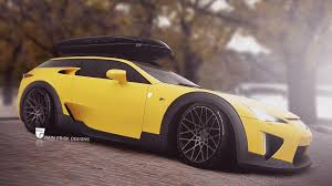 Lexus LFA Rendered as Shooting Brake a Real Car Could Sell Well