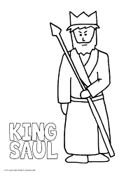 Good King Saul Coloring Page 19 About Remodel Free Colouring Pages With