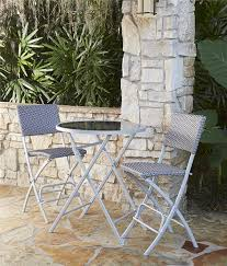 Cosco Outdoor High Top Bistro Set, Folding, 3 Piece, Steel Frame With Navy  And Gray Wicker Havenside Home Roseland Outdoor 2pack Delray Steel Woven Wicker High Top Folding Patio Bistro Stools Na Barcelona Wooden And Foldable Chair Garca Hermanos Elegant Bar Set 5 Fniture Table Image Stool Treppy Pink Muscle Rack 48 In Brown Plastic Portable Amazoncom 2 Chair Garden Hexagon Seat Rated Wooden Chairs Ideas Baby Feeding Booster Toddler Foldable Essential Franklin 3 Piece Endurowood Haing Cosco Retro Red Chrome Of Chairsw Legs Qvccom 12 Best 2019 Pampers