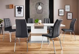 essgruppe perez lila set 5 tlg mit 4 stühlen tisch ausziehbar breite 160 200 cm