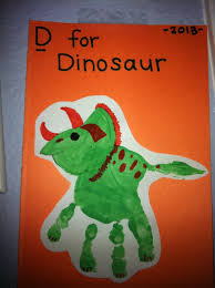 Dinosaur Art With Handprint