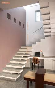 Brown Staircase With Granite Flooring Design Photos