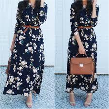 beautiful floral prints summer dresses hijab fashion inspiration