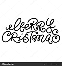 Merry Christmas Text Quote Collection Calligraphy Lettering