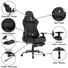 Ergonomic Racing Gaming Chair With Footrest, Black - Moustache® Best Gaming Chairs Of 2019 For All Budgets 6 Gaming Chairs For The Serious Gamer Top 12 Sep Reviews Gameauthority Office Star High Back Progrid Freeflex Seat Chair Maker Secretlab Has Something Neue The Cheap Under 100 200 Budgetreport Max Chair 14 Gear Patrol Premium And Comfy Seats To Play Brands 7 Xbox One