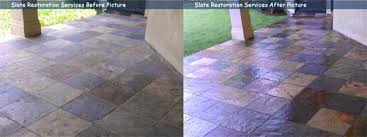 slate tile floor cleaning and sealing in houston bizaillion floors