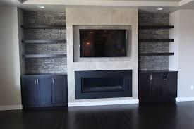 Modern Wood Fireplace And Tv