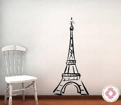 Eiffel Tower Bedroom Decor Vinyl Wall Decal Baby Nursery By Openheartcreations