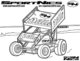 Coloring Pages Of Sprint Cars Dirt Galleryhip The