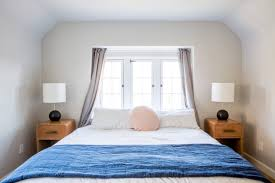 J Queen New York Paramount Curtains by Ask The Audience Master Bed In Front Of Window Emily Henderson