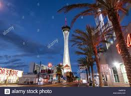 Stratosphere Observation Deck Hours by Stratosphere Hotel And Casino At Night Las Vegas Nevada Usa