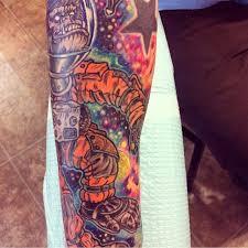 Sleeve Tattoo Arm Space Monkey Astronaut Color