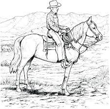 Wild Horse Coloring Pages Mustang Page Free Printable Horses And Rider Splendid Ideas Western Awesome K