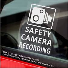 100 Truck Window Stickers 4 X SAFETY CAMERA Recording60x87mm WINDOW Vehicle Security