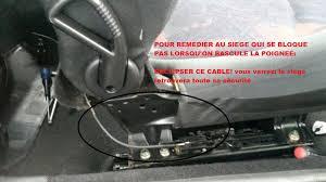 reglage siege auto mon siège passager ne se bloque plus sos 206 peugeot forum