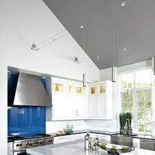 track lighting for vaulted kitchen ceiling ceilings unique flush