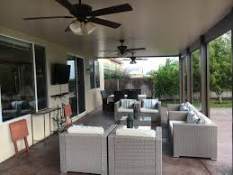 Alumawood Patio Covers Riverside Ca by Alumawood Patio Cover Solid Top Three Ceiling Fans Electrical