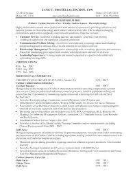 Sample Resume For Registered Nurse With No Experience Entry Level Nursing Examples