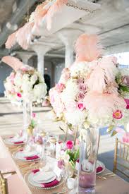 Pink And Gold Weddings Wedding Tablescapes Centerpieces Elegant