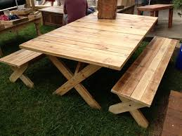 Pallet Patio Table Plans by Resplendence Pallet Picnic Table Plans 68 With Additional