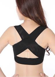 cross back brace bra back support posture corrector body