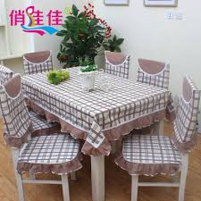 Mediterranean Fashion Plaid Table Cloth Dining Chair Cushion Seat Cover Coffee Pastoral Suit In Tablecloths From Home Garden On