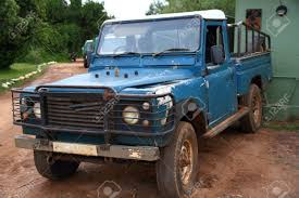 100 Safari Truck Old Blue Covered In Dirt Rust And With Chipping