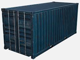 100 Shipping Container Model 3D