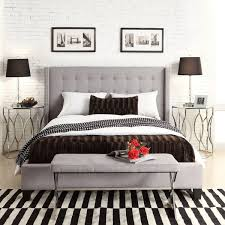 amazing upholstered bed frame and headboard ana white chestwick