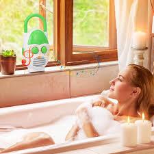 wasserdichtes duschradio mit lautsprecher mini am fm radio für badezimmer nachttisch grün