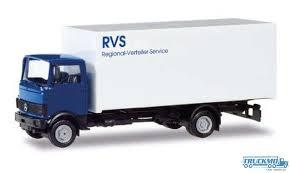 100 Mercedes Box Truck Herpa Basic RVS Benz 813 Box Truck 309585 TRUCKMO