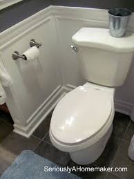Small Bathroom Wainscoting Ideas by Wall Color Wanescot Http Angieinthethickofit Com 2011 07