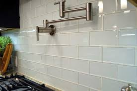 white glass subway tile backsplash large tile warehouse