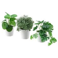fejka topfpflanze künstl topf 3er set drinnen draußen grün 6 cm