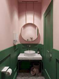 green and pink bathroom inspiration