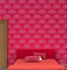Reusable Geometric Wall Stencil