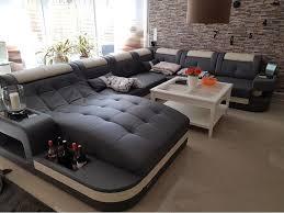 leder wohnlandschaft wave u sofa design ecksofa design