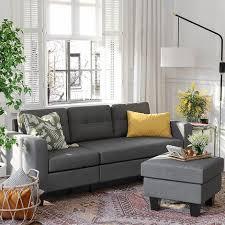 vasagle sofa fürs wohnzimmer l förmig mit