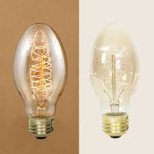 light bulb oval vintage style bulb with spiral filament