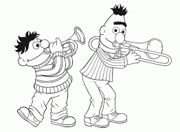 Bert And Ernie Coloring Pages Und Bilder Dibujos 217381