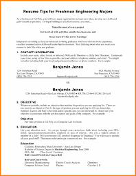 College Freshman Student Resume Samplescollege Graduate Samples Inside No Experience