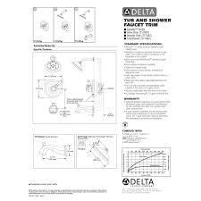 Delta Faucets Cassidy Line by Delta Faucet T17497 Cassidy Polished Chrome One Handle Tub