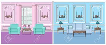 wohnzimmer interieur vektor stellen sie räume im flachen design der linie kunst ein linearer hintergrund wohnraum mit möbeln abbildung
