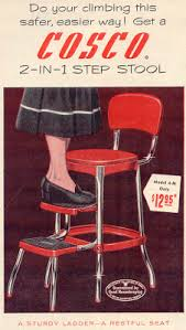 Cosco Counter Chair Step Stool by Gold Country Girls Vintage Cosco Stools